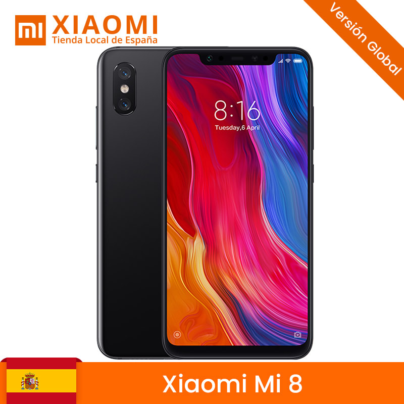 Global Version <font><b>Xiaomi</b></font> Mi 8 <font><b>Mi8</b></font> Mobile Phone <font><b>6GB</b></font> 64GB/<font><b>128GB</b></font> Snapdragon 845 Octa Core 6.21 18.7:9 Full Screen 20MP Front Camera image