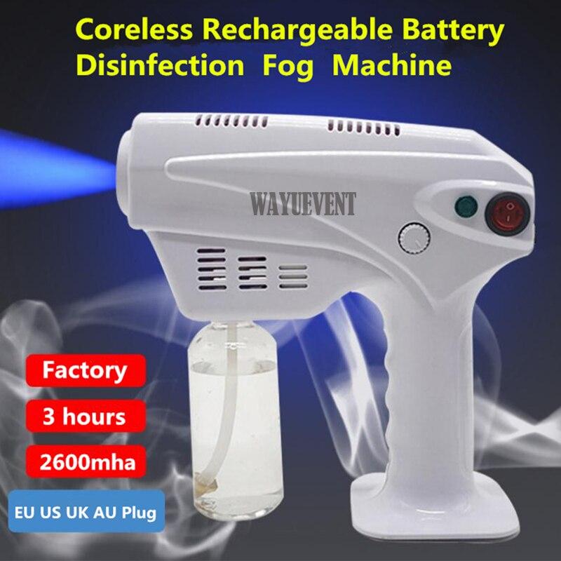 Rechargeable  Handheld Atomization Disinfection Gun Machine Stage Smoke Machine Blue Light Nano Steam Gun Hair Spray Machine