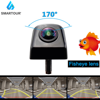 HD 1920x1080P Dynamic trajectory  Fisheye Lens Car Rear View Camera Starlight Night Vision Vehicle Track Reverse camera 1080p ahd fisheye starlight car rear view camera night vision reverse camera forsubaru outback impreza forester