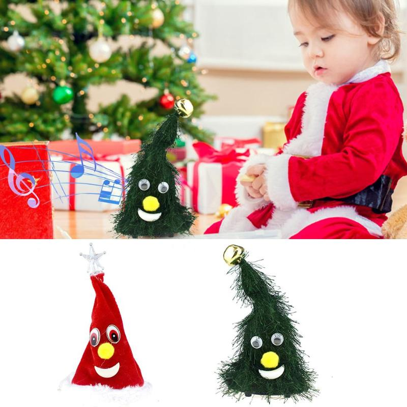 Electric Christmas Tree Ornament Decorative Doll Toy Xmas Party DIY Crafts Creating Cheerful And Beautiful Atmosphere