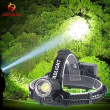 18650 XHP70.2 XHP70 قوية USB Led كشافات العلوي التكبير رئيس مصباح يدوي الشعلة فانوس الصيد مصباح الصيد