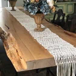 Makrama bieżnik na stół ręcznie robiony makrama bieżnik na stół wspaniały ręcznie tkany stół weselny dekoracja bieżnik weselny z długim Ta