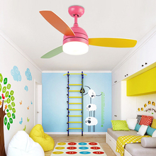 42 inch LED Ceiling Fan Lamp Light with Remote Control 18w Cooling Fans 220V AC Multi Color for Restaurant Kid's Room Decor
