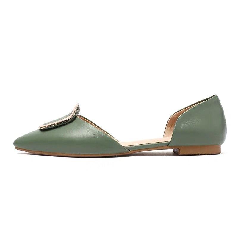 Новая женская обувь на плоской подошве кожаные балетки на плоской подошве для отдыха Лидер продаж, размер 33-43, Женская Весенняя обувь на пло...