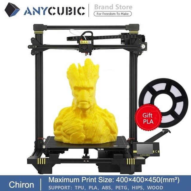 Anycubic 3d drukarka anycubic Chiron Plus duży rozmiar wydruku tanie 3D drukarka 400*400*450mm drukuj zestawy DIY FDM TFT impresora 3d