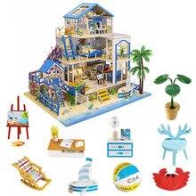 Деревянный кукольный 3d-дом, миниатюрные миниатюры «сделай сам», игрушки для детей, подарок на день рождения, различные стили мебели