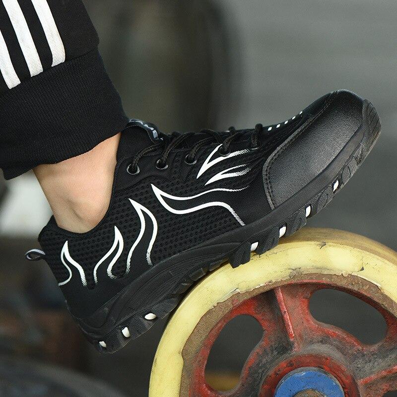 FANAN 2020 mode travail chaussures de sécurité léger confort respirant maille hommes anti-crevaison nouveau Design baskets livraison gratuite