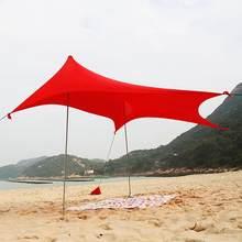 Strand Sonnenschirm Leichte, Tragbare Sonne Schatten Zelt mit Sandsack UV Lycra Große Familie Baldachin für Outdoor Angeln Camping
