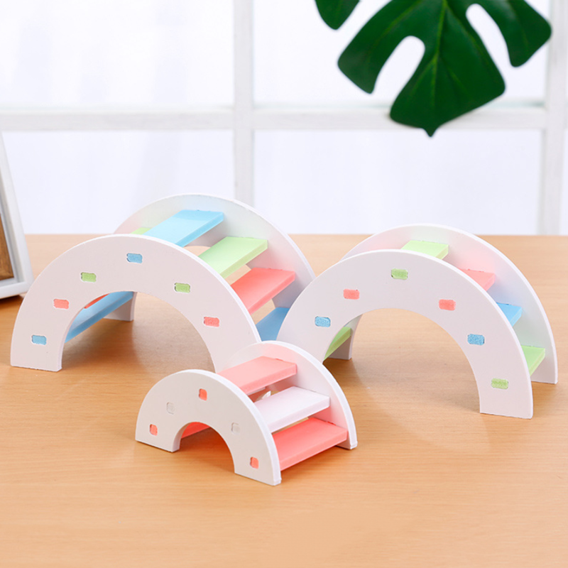 Pet hamster Wooden Bridge Hamster Hamster Toy Wooden Bridge Hamster Supplies Wooden Bridge Eco-friendly Toy Small Chinchilla
