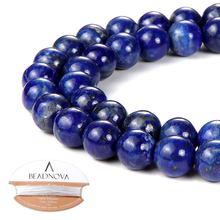 Синий Лазурит Драгоценный Камень круглые бусины россыпью для