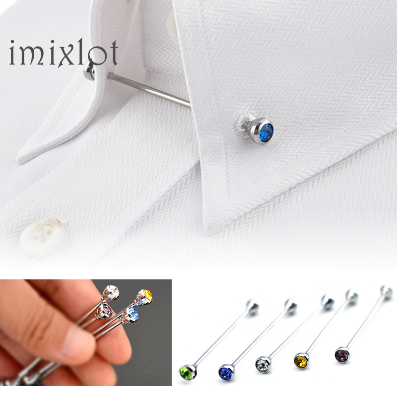 2019 Limited Broche Mens Shirt French Collar Pin Brooch Bar Clasp Clip Barbell Lapel Stick For Men Fashion Jewelry Accessories(China)