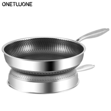 High Quality 304 Stainless Steel Frying Pan Nonstick Pan Fried Steak Pot Kitchen Restaurant Electromagnetic Furnace General