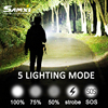 Samxi High Power Rechargeable LED Flashlight XHP70 2 Tactical Flashlight With 26650 Battery LED Lantern For Camping Riding discount