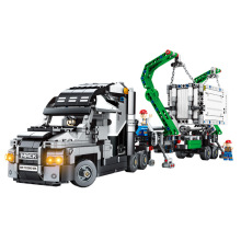 1202PCS Container Truck Vehicles Car Building Blocks Compatible Technic Car DIY Bricks Educational Toys for Children цены