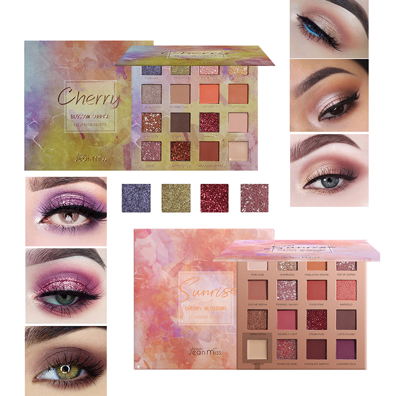16 Color Shimmer Matte Eyeshadow Palette Long Lasting Waterproof Smudge-proof Eye Shadow Powder Eyes Makeup Beauty