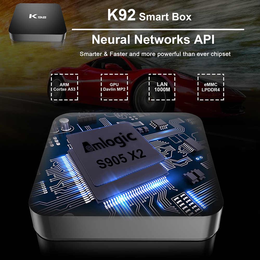 Docooler K92 Android 8.1 กล่องสมาร์ททีวี Amlogic S905 X2 2.4G/5G Dual-band WiFi USB3.0 bluetooth 4.2 สนับสนุน 4K Media Player กล่องทีวี