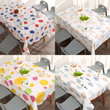 Table-Cloth Kitchen-Accessories Home-Decor Rectangle Nordic-Style PVC Waterproof Print