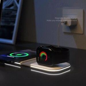 Image 4 - Manyetik MgaSafing kablosuz Duo şarj iPhone 12 /Pro/Pro Max/Mini 15W manyetik MagSave hızlı kablosu ile kablosuz şarj
