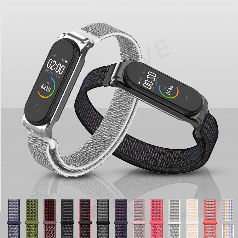 Protector/Bracelet Mi Band 3 4 Strap For Xiaomi Mi Band 4 3 Strap/Bracelet For MiBand 3 Strap Metal Stainless Steel Wrist Strap