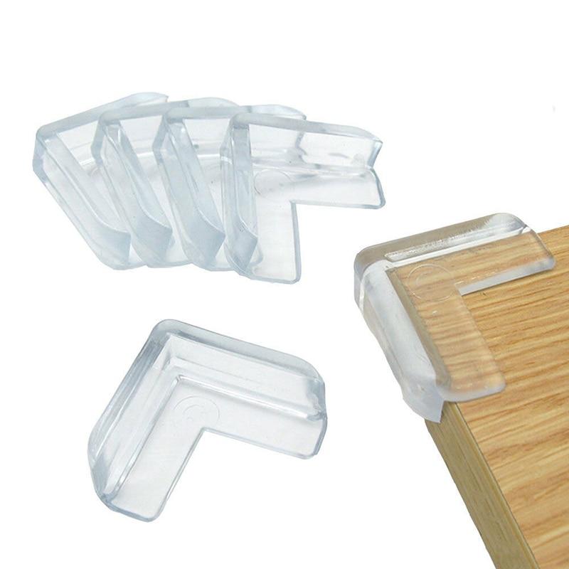 Новинка, 4 шт., детская Защитная настольная Подушка-накладка на углы, защитный бампер, утолщенный защитный коврик, безопасный защитный чехол