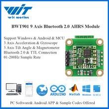 جهاز استشعار بزاوية رقمية مع مستشعر بالبلوتوث 2.0 BWT901 9 Axis + مقياس الدوران + مقياس مغناطيسي MPU9250 على الكمبيوتر الشخصي/أندرويد