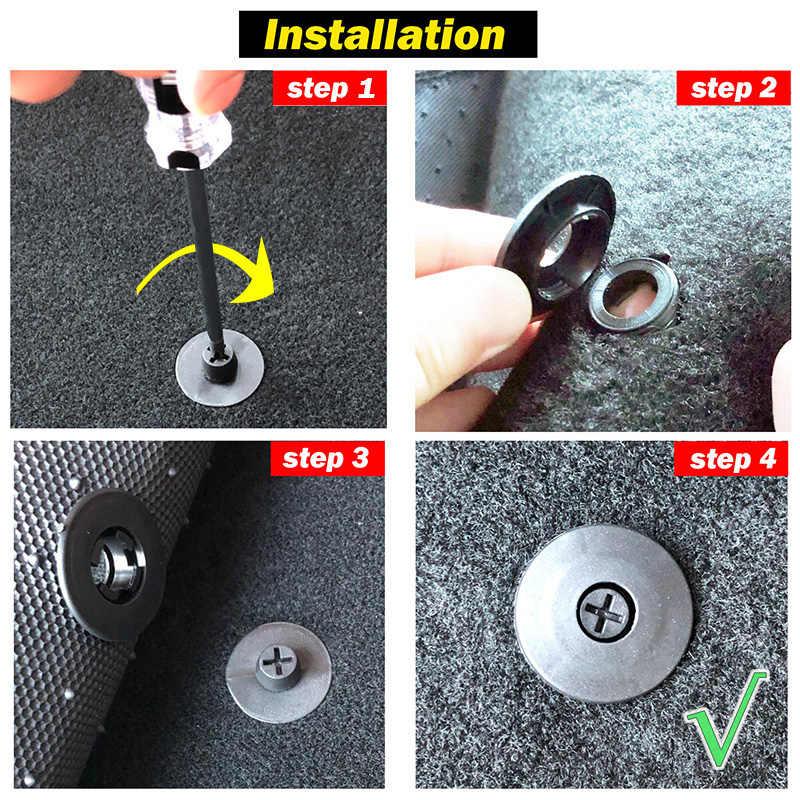 4 adet evrensel araba paspas klipleri tutma tutucular sapları halı sabitleme kelepçeleri tokaları Anti patinaj raptiye tutucu dayanıklı