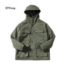 Парка 2020 в японском стиле Повседневная зимняя куртка для инструментов