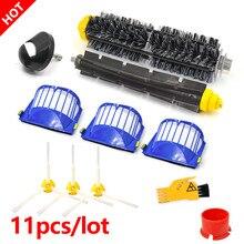 Spazzole filtro flessibile a spazzola a 3 bracci per iRobot Roomba serie 600 610 620 625 630 650 660 aspirapolvere