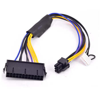 For HP Compaq 8300 8380 8000 EliteDesk 880 G1 ProDesk 600 G1 TWR Motherboard 6Pin to ATX 24Pin 20+4Pin Power Supply Cable