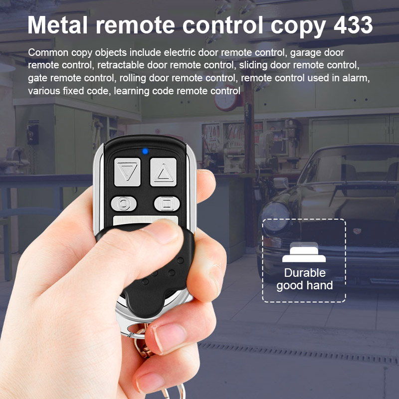 New Hot 433MHZ Metal Copy Came Remote Control For Garage Car Home Gate Sliding Door