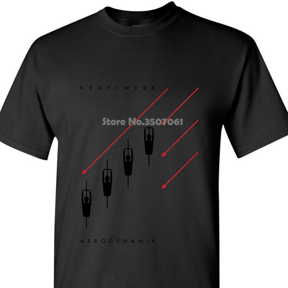 Tshirt High Quality Kraftwerk Aerodynamik Black / White Mens T Shirt Electronic Synth Neu! Krautrock Coat Clothes Tops