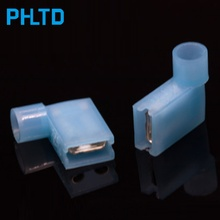 Nylon Fully Insulated Terminal Block Flag Right Angle Cold Pressed Terminal Block Blue 2-250