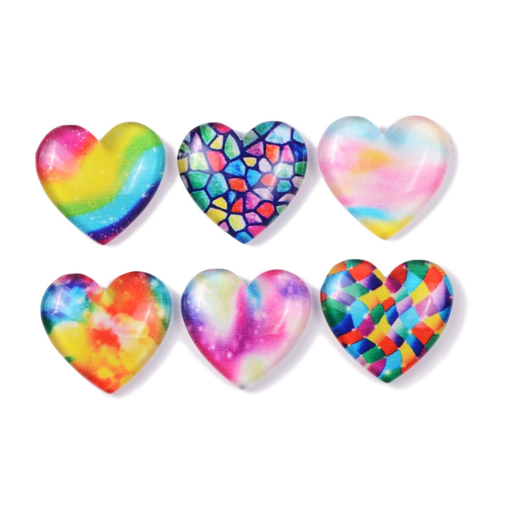 10 Pcs Colorful Gradient Love Slime Clay Charm Filling Accessories Kids Toy Earring Hair Tie Handmade DIY Accessories
