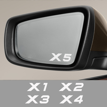 4 Pcs Car Sticker For For BMW X5 E53 E70 F15 G05 X1 F48 X3 F25 X6 E71 X2 F39 X4 F26 X7 G07 Car Accessories Rearview Mirror Decal image