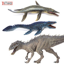 HiTwo Prehistoric Jurassic Indominus Rex Action Figures Open Mouth Savage World Animals Model PVC High Quality Toy For Kids Gift