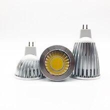 Новинка, мощная светодиодная лампа MR16 GU5.3 COB 6 Вт 9 Вт 12 Вт с регулируемой яркостью, светодиодный прожектор Cob, Теплый Холодный белый MR 16 12 В, лам...
