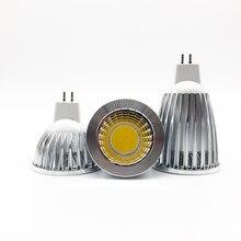 Nova lampada de alta potência led mr16 gu5.3 cob 6w 9 12 pode ser escurecido led cob spotlight branco fresco quente mr 16 12 v lâmpada gu 5.3 220 v