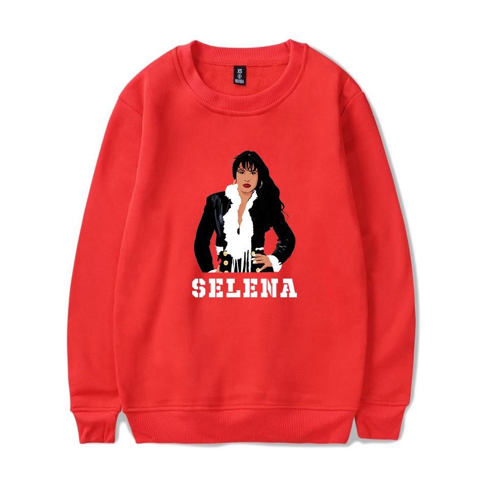 2019 Cute Selena Quintanilla Red Hooded Men/Women Hatless Sweatshirt Autumn Hoodies Hatless Sweatshirt Selena Quintanilla Men's