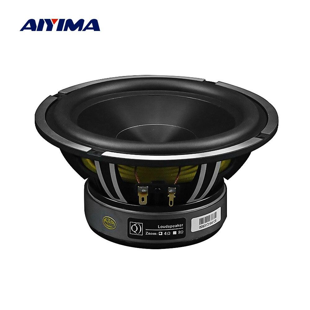 AIYIMA 6.5 Ohm Woofer Áudio Car Música Speaker Driver 4 Polegada 50W Baixo Auto Falante À Prova D' Água Da Bacia de Alumínio DIY sistema de som