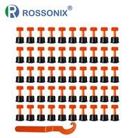 50 Pcs Reusable Fliesen Nivellierung System Wand Boden Fliesen Leveler mit Schlüssel Fliesen Verlegung Anti Lippage Bau Werkzeuge