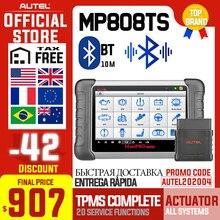 Autel MaxiPRO MP808TS herramienta de diagnóstico escáner automotriz OBD2 OBD 2 todos los sistemas agregar la función TPMS mejor que MK808 MK808TS AP200