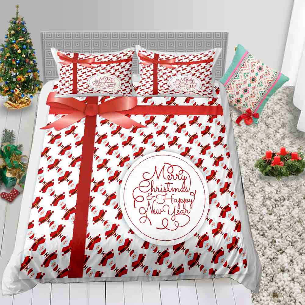 Thumbedding Gift Box Print Bedding Set Christmas Decoration Fashion Duvet Cover King Queen Twin Full Single Double Bed Set