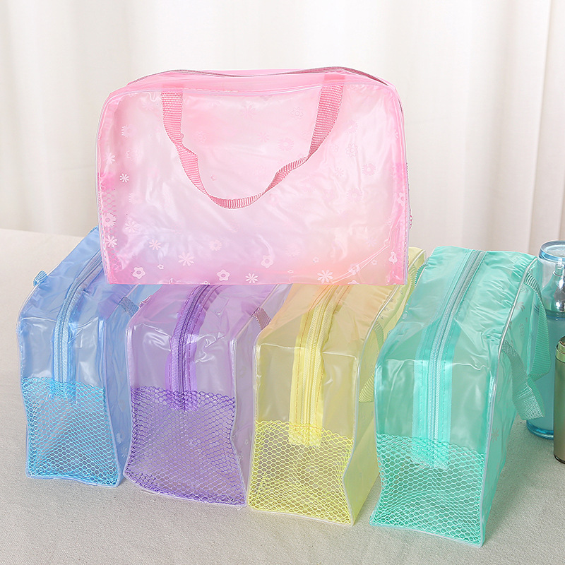 <font><b>Cosmetic</b></font> Storage <font><b>Bags</b></font> 5 Colors Portable Waterproof <font><b>Transparent</b></font> Skin Care Products Organizer Case Household Goods <font><b>Bag</b></font> Tools image