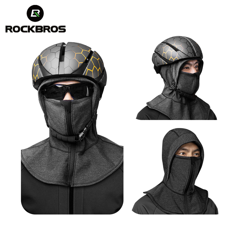 Image 2 - ROCKBROS Winter Cycling Cap Fleece Thermal Keep Warm Windproof Cycling Face Mask Balaclava Skiing Fishing Skating Hat Headwear-in Cycling Face Mask from Sports & Entertainment
