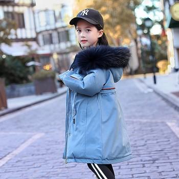 120-170cm new 2019 winter high quality fashion style girls down jacket kids winter coat kids winter jacket