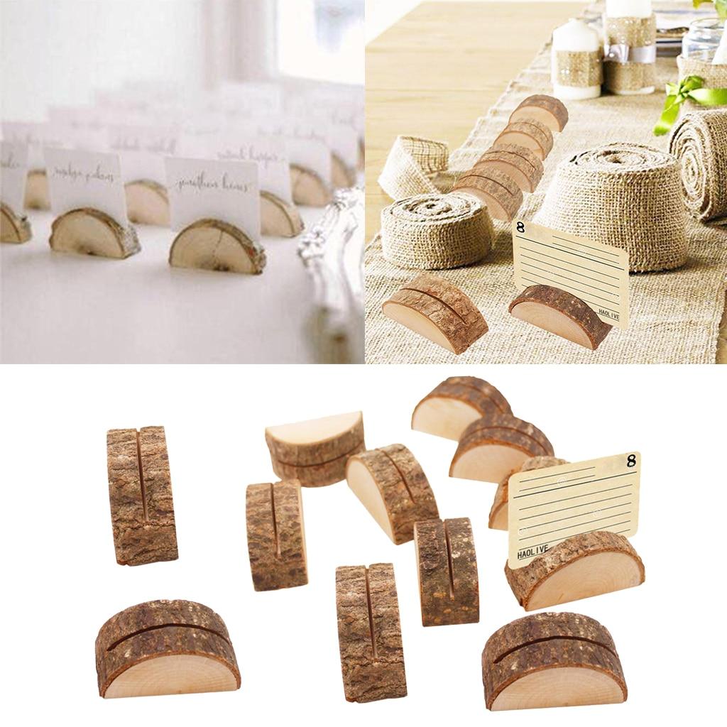 120 pièces porte cartes en bois porte numéro de Table pour les décorations - 3