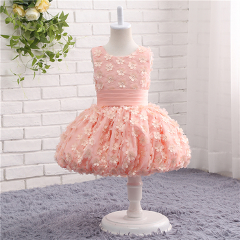 Pink Princess Ball Gowns Wedding Tutu Kids Evening Dresses For Girls Party Flower Girl Dress Dresses Sleeveless Prom 2-13 Years baby girl dress pink flower sleeveless ball gown princess wedding dresses girls baptism 1 year vestido infantil 6m 4y