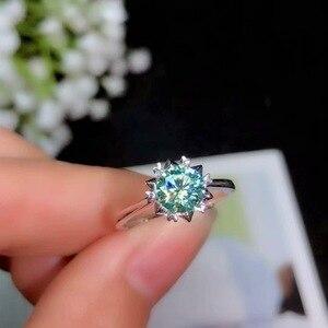 Image 2 - Boeycjr 925 실버 1ct/2ct 블루 moissanite vvs 약혼 웨딩 다이아몬드 반지 여성을위한 국가 인증서