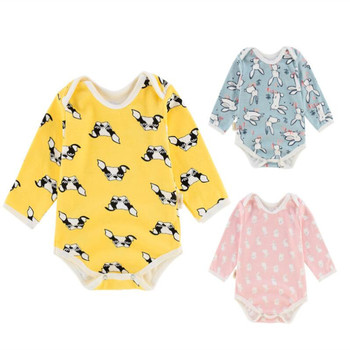 Baby Girl Boy Romper Autumn Newborn Rompers Long Sleeve Clothes Cotton Infant