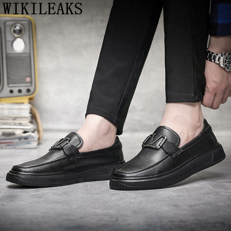 mens black leather driving shoes